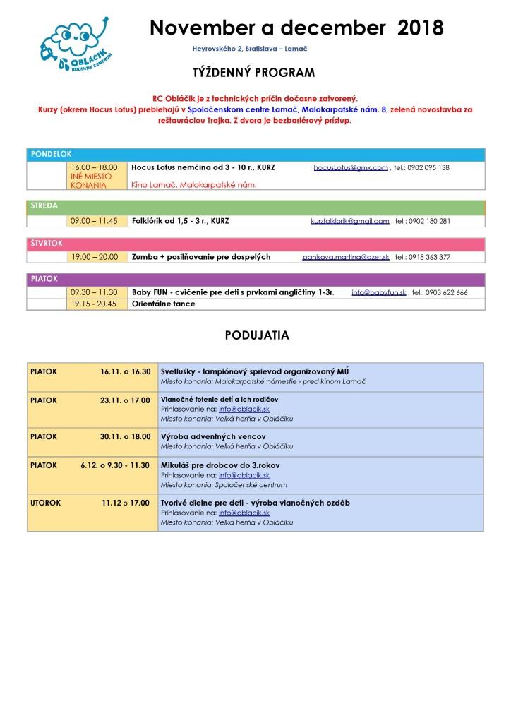 Program na november 2018